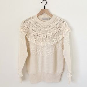 Vintage Crocheted Sweater